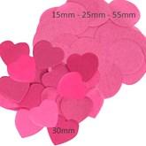 Fuchsia Tissue Confetti Discs & Hearts