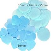 Light Blue Tissue Confetti Discs & Hearts