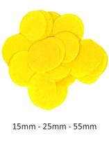 Yellow Tissue Confetti Discs