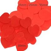 Red Tissue Confetti Discs & Hearts
