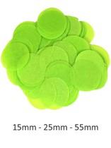 Lime Green Tissue Confetti Discs