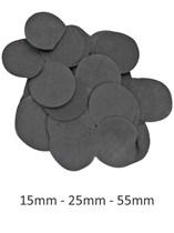 Black Tissue Confetti Discs