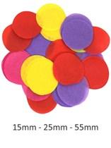 Mixed Colour Tissue Confetti Discs