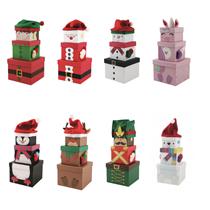 Christmas 3 Piece Plush Gift Box Sets