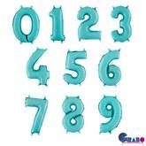 "Pastel Blue 14"" Foil Number Balloons"