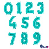 """Tiffany 14"""" Foil Number Balloons"""