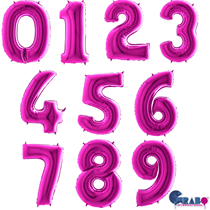"""Purple 40"""" Foil Number Balloons"""
