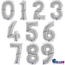"""Grabo Silver 64"""" (1.62M) Foil Numbers"""