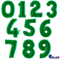 """Green 40"""" Foil Number Balloons"""