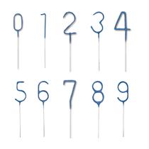"Blue Glitz Party 7"" Number Sparklers"