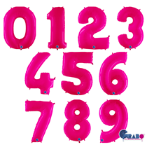 """Grabo Special Pink Fluo 40"""" Number Balloon"""