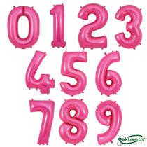 "Oaktree 34"" Pink Foil Number Balloons"