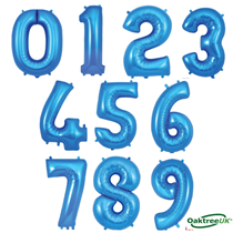 "Oaktree 34"" Blue Foil Number Balloons"