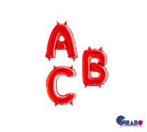 """Grabo Red 14"""" Foil Letter Balloons"""