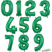 "Oaktree Green 34"" Foil Number Balloons"