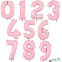 """Oaktree Matte Pink 34"""" Foil Number Balloons"""