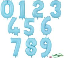 """Oaktree Matte Blue 34"""" Foil Number Balloons"""