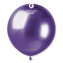 "Gemar Shiny Purple 1.5ft (19"") Latex Balloons 25pk"