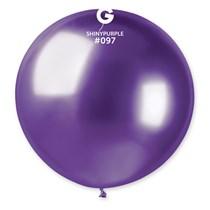 "Gemar Shiny Purple 2.5ft (31"") Latex Balloons 5pk"