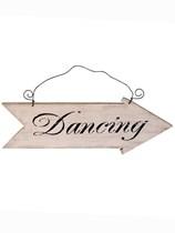 Wooden Dancing Arrow Sign