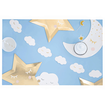 Little Sleepy Cloud Paper Garland Gold Print 1.45M