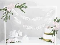 White Leaves DIY Banner Garland 1.8M