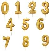 Gold Glitter Moulded Pick Number 0-9 Candles 7cm