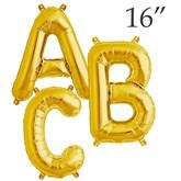 """16"""" Gold Letter Foil Balloons"""