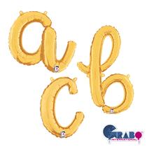 "Gold Script 26"" Foil Letter Balloons"