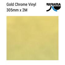 Gold Chrome Metallic Sign Vinyl 305mm 2M Roll