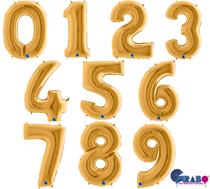 "Grabo Gold 40"" Foil Number Balloons"