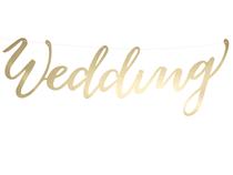 Wedding Gold Script Banner 45cm