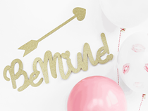 Valentine's Be Mine Gold Glitter Banner