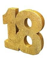 Gold Glitter 18th Birthday Table Decoration