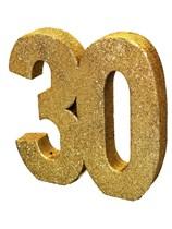 Gold Glitter 30th Birthday Table Decoration