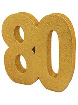 Gold Glitter 80th Birthday Table Decoration