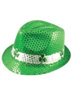 Sequin Irish St Patrick's Shamrock Adult Hat