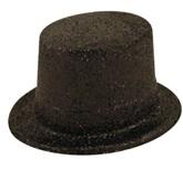Black Glitter Top Hat