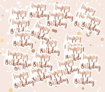 Giant Rose Gold Happy Birthday Confetti