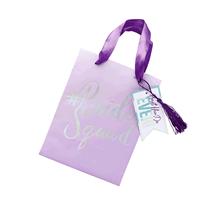 Purple Foil Finish Bride Squad Party Bags 5pk