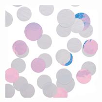 Silver & Iridescent Jumbo Disc Confetti 40g