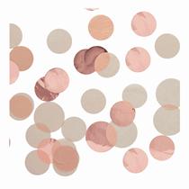 Rose Gold Jumbo Disc Foil & Tissue Confetti 40g