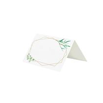 Gold Geometric Greenery Design Place Cards 10pk