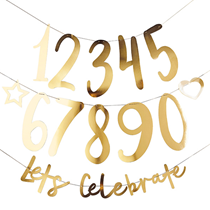 Let's Celebrate Gold Create Your Own Banner