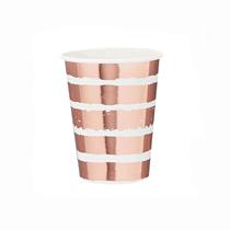 Rose Gold Foil Stamped Paper Cups 10pk