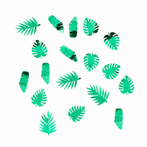 Tropical Leaf Green Foil Confetti 14g