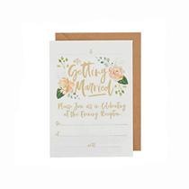 Wedding Evening Invitation & Kraft Envelopes 25pk