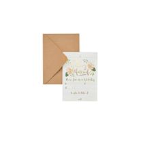 Wedding Day Invitations & Kraft Envelopes 25pk