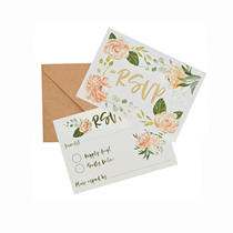 Wedding RSVP Cards & Kraft Invites 25pk