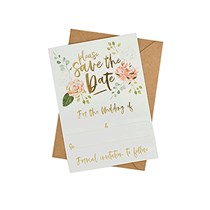 Save The Date Cards With Kraft Envelopes 25pk